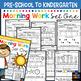 Morning BOOSTER Work: Preschool to Kindergarten - Set One