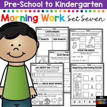 Morning BOOSTER Work: Preschool to Kindergarten - Set Seven