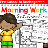 Morning Work: Preschool to Kindergarten - Set Twelve