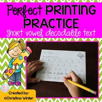 Printing Practice {Short Vowels}