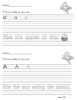 Printing Practice {Long Vowels}