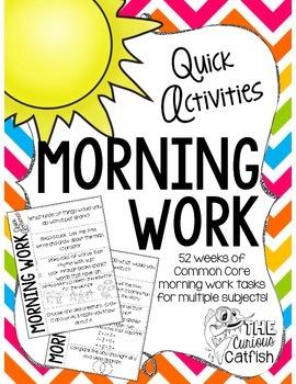 Morning Work: Quick Activities