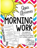 Morning Work: Quick Activities