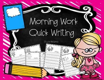 Morning Work Quick Writing for Kindergarten