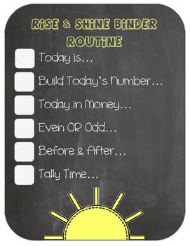 Morning Work Routine