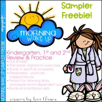 FREE Morning Work SAMPLE - Morning Wake Up Kinder, 1st and 2nd