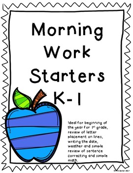 Morning Work Sampler