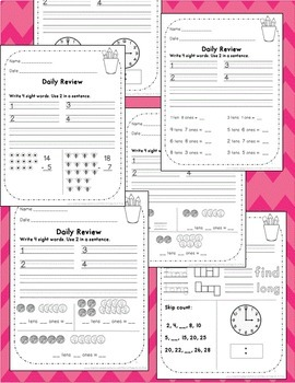 2nd grade Morning Work ~ Math & Language Arts for Second Grade Daily Review