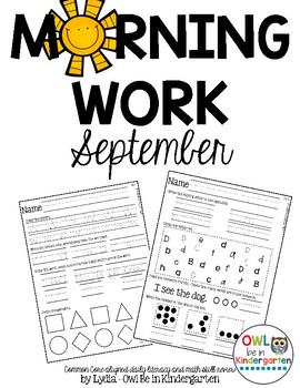 Morning Work: September