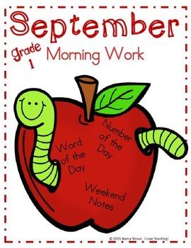 Morning Work September Grade 1