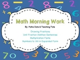 Morning Work: Simple Fractions, Multiplication to 5, Expanded Form