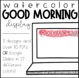 Watercolor Good Morning Slides