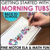Morning  Work Tubs - Getting Started With Morning Work Stations