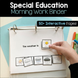 Morning Work Student Binder - Special Education Friendly