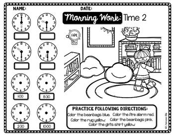 Morning Work Telling Time