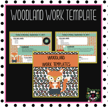 Woodland Morning Work Template