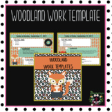 Woodland Animals Morning Work Template