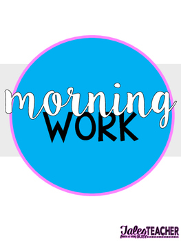 Morning Work {Template and Flip Book}