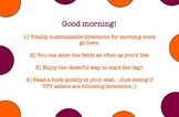 Morning Work Template with Polka Dots