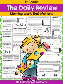 Morning Work Daily Review - First Grade