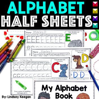 Alphabet Practice - Half-sheets or a Mini-book