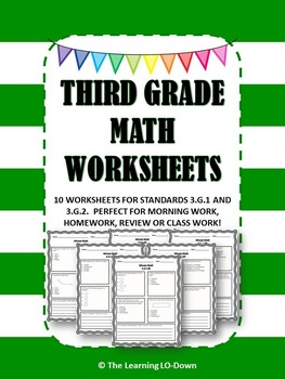 Morning Work: Third Grade Common Core Geometry Math Worksheets