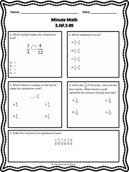 Morning Work: Third Grade Common Core Math Worksheets