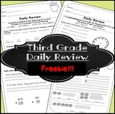 Morning Work! Third Grade ~ Free!~ 3rd Grade Freebie