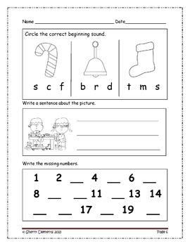 Morning Work Through the Year - Kindergarten (January-December)