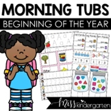 Morning Work Tubs {beginning of the year}