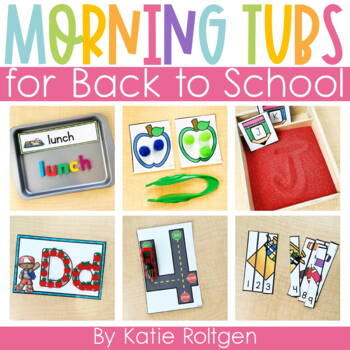 Back to School Morning Work Tubs for Kindergarten