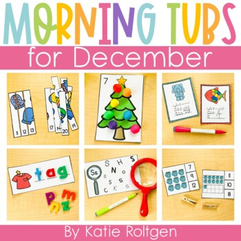 December Morning Work Tubs for Kindergarten