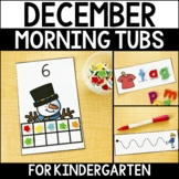 December Morning Work Tubs for Kindergarten