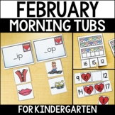 February Morning Work Tubs for Kindergarten