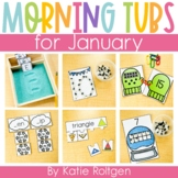 Morning Work Tubs for Kindergarten {January}