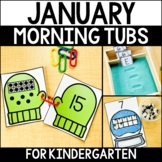 January Morning Work Tubs for Kindergarten