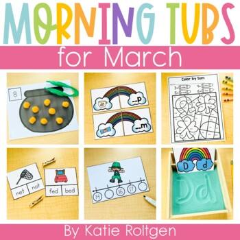 Morning Work Tubs for Kindergarten {March}