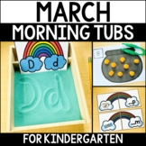Morning Work Tubs for Kindergarten {March}