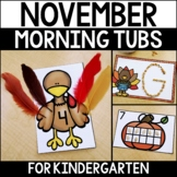 Morning Work Tubs for Kindergarten {November}