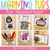 November Morning Work Tubs for Kindergarten