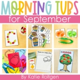 September Morning Work Tubs for Kindergarten