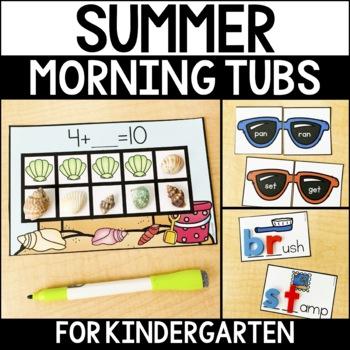 Morning Work Tubs for Kindergarten {Summer}