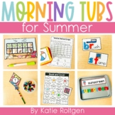 Summer Morning Work Tubs for Kindergarten