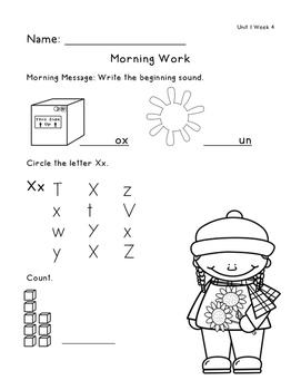 Morning Work - Unit 1 (Reading Street)