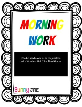 Morning Work Unit 2 Wonders