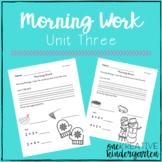 Morning Work - Unit 3 (Reading Street)