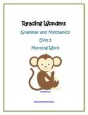 Morning Work - Unit 5 Reading Wonders