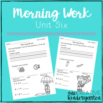 Morning Work - Unit 6 (Reading Street)