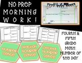 Morning Work - Use All Year! 4th & 5th Grade Math