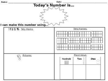 Morning Work- Ways to Make A Number